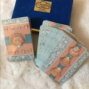 Vintage Congress Seashell Playing Cards